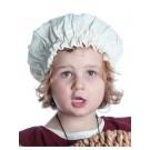 Mittelalter Kinderhaube Florie aus Baumwolle in Beige Frontansicht